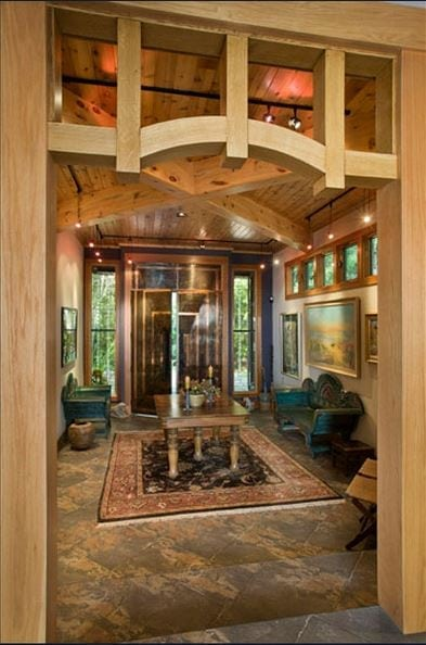 Entry with Timber Framing