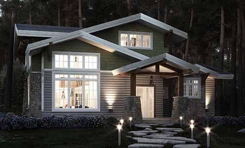 Craftsman Timber Frame Home Floor Plan