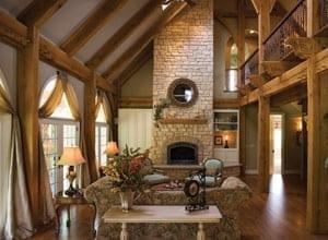 Beautiful Custom Timber Frame Great Room