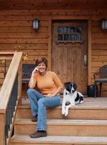 Home Owner and Dog