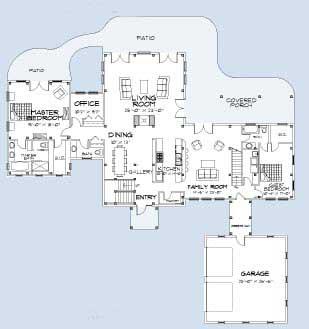Lancaster Main Floor Plan