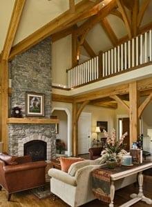 Timber Post and Beam Great Room