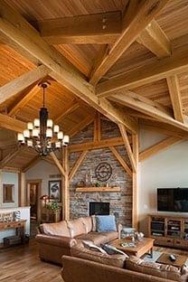 Interior Timber Frame Greatroom