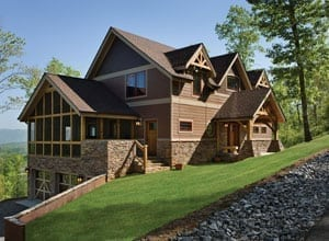 Exterior of a Timber Frame Home