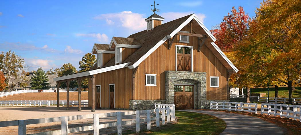 Timber frame stable