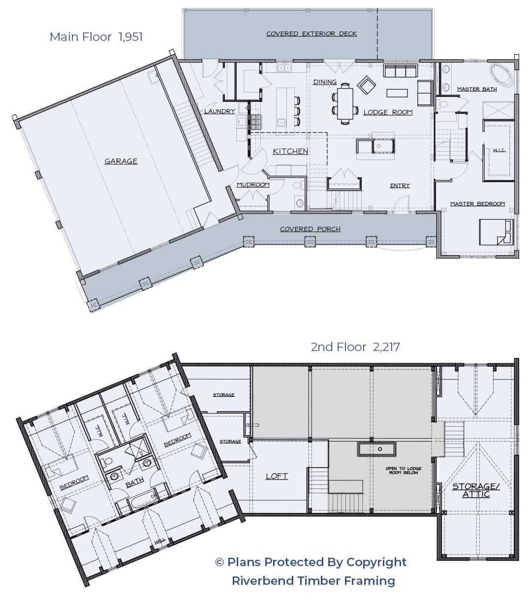 Energy Efficient timber floor plan