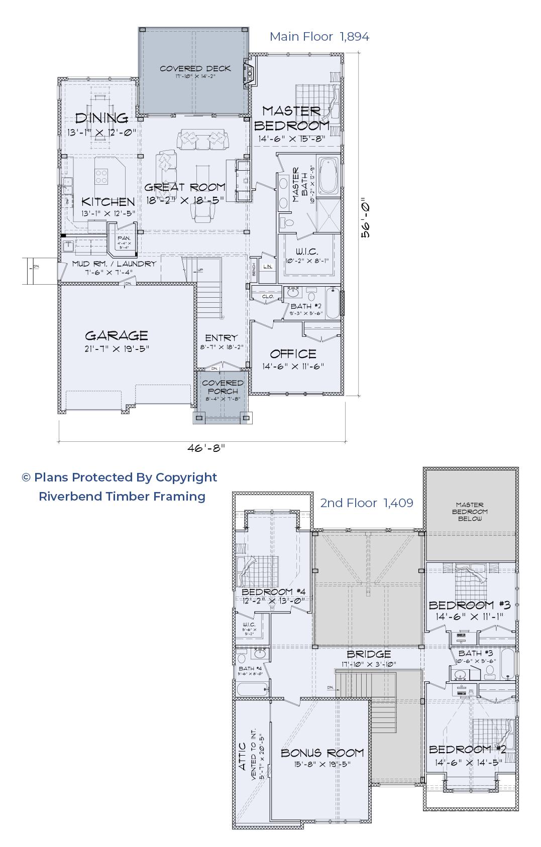 mountain style home floor plan