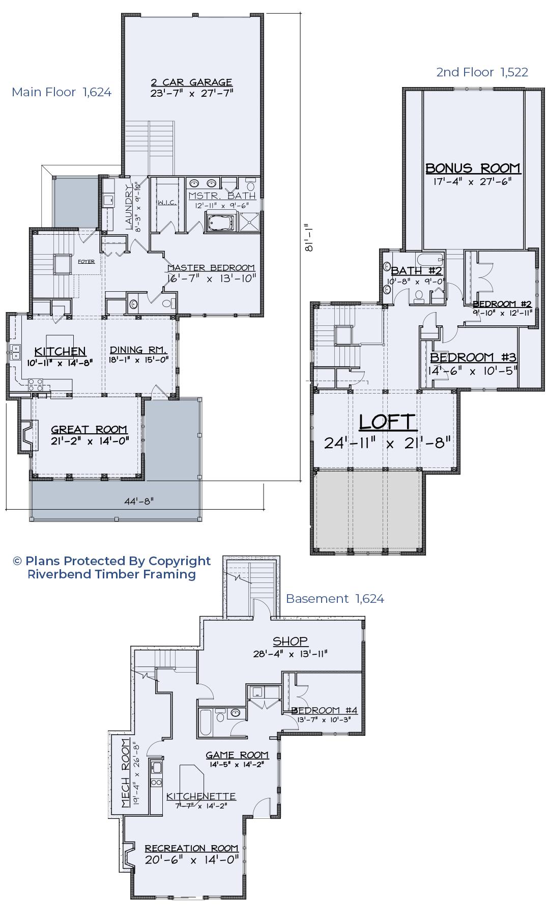 lake home floor plan